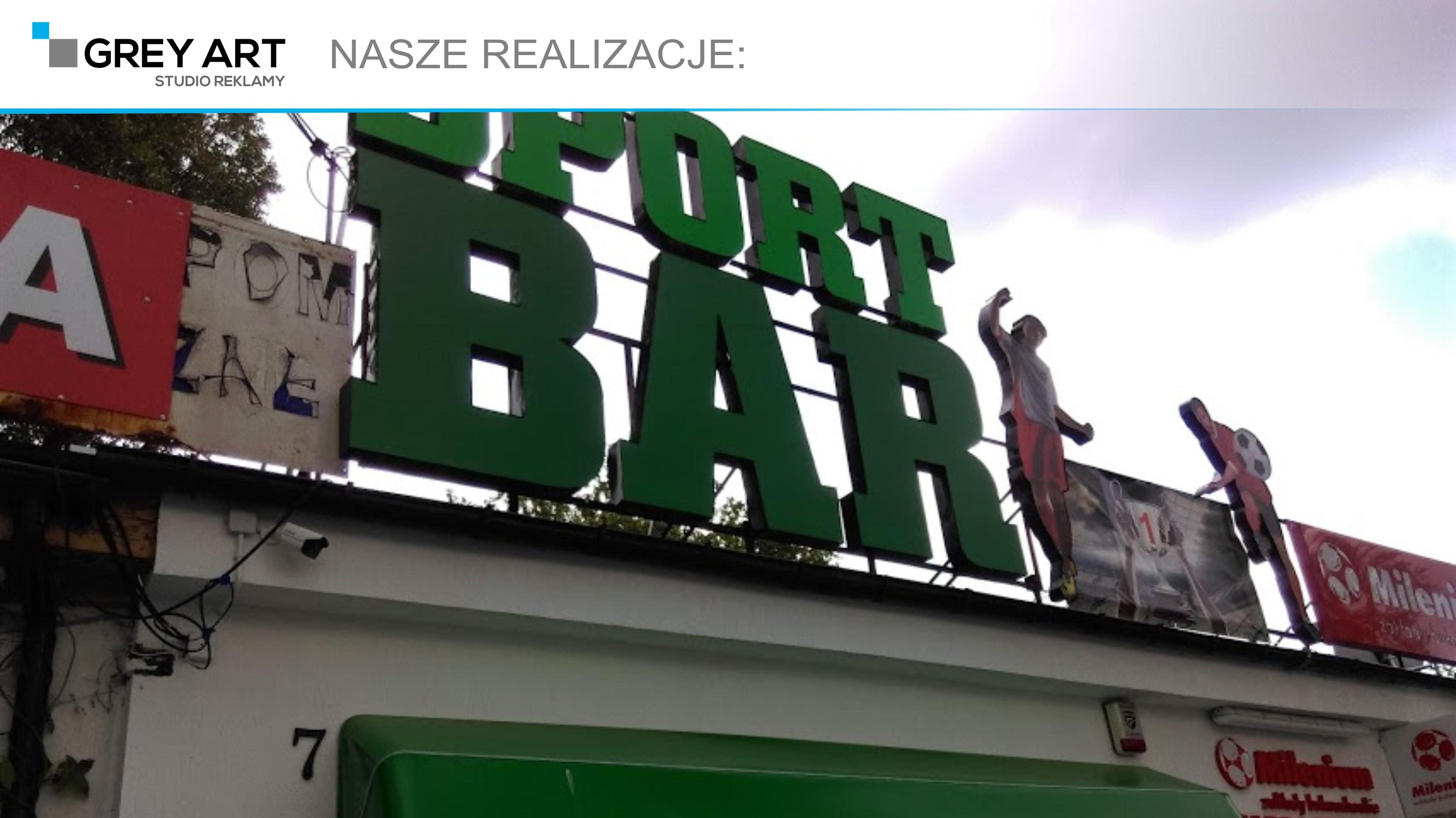 Litery blokowe 3d – Sport Bar