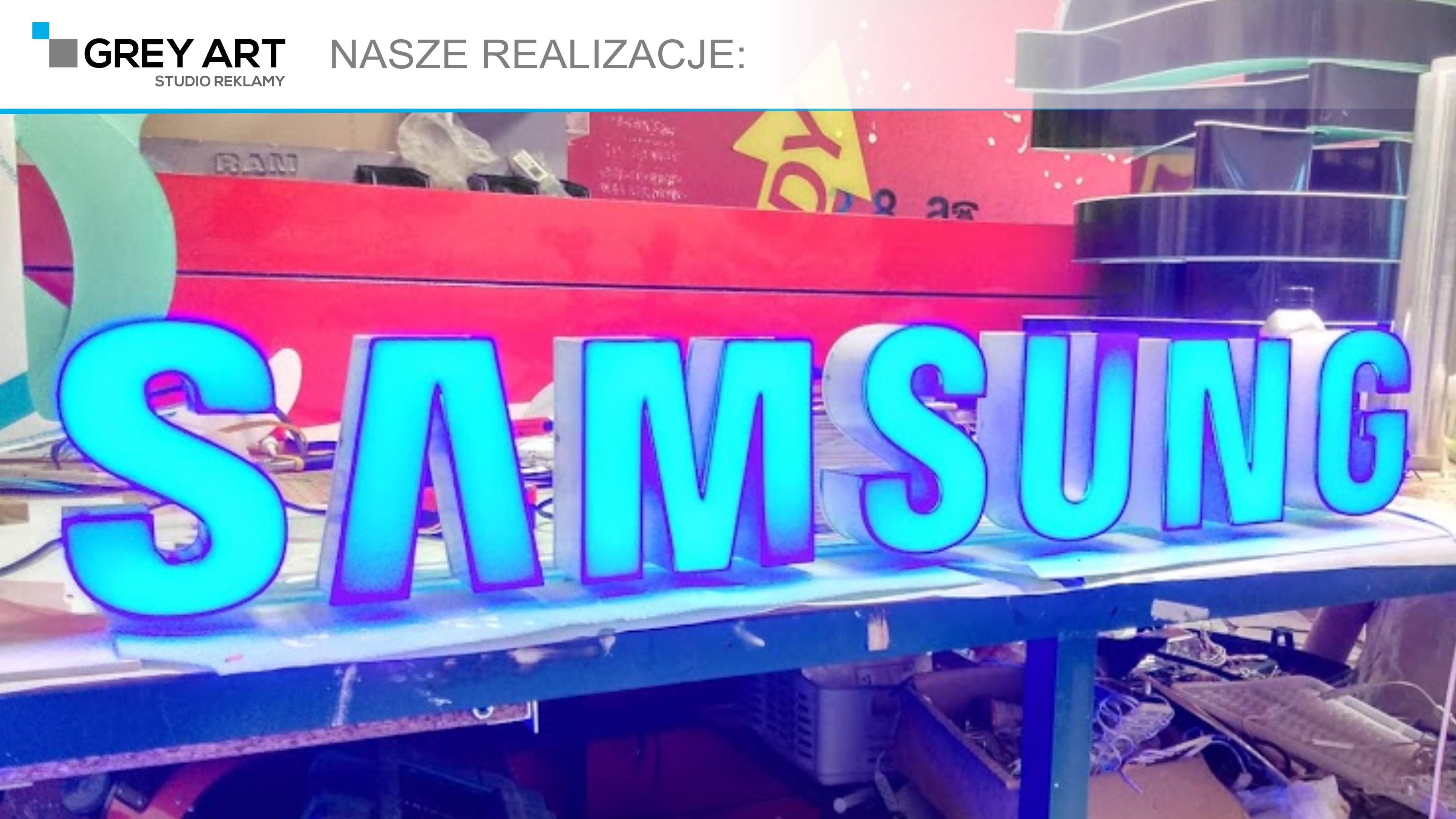Litery blokowe – Samsung