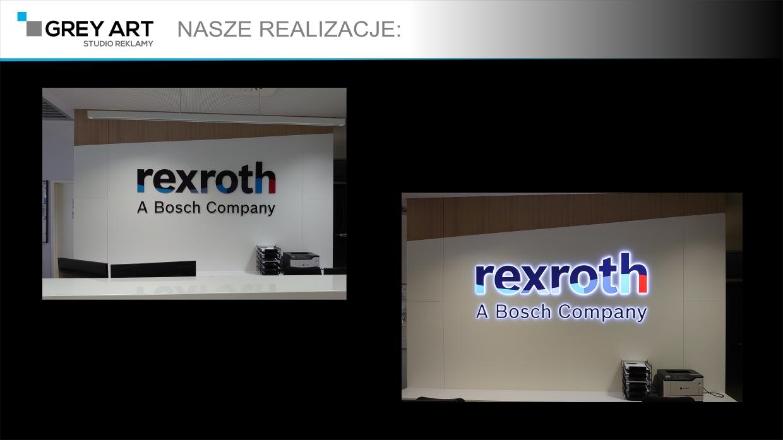 REXROTH – litery z PMMA LED